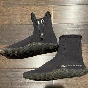 Deep See SCUBA dive boots water shoes - Size 10